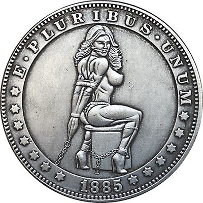 Hobo Nickel  1885-CC USA Morgan Dollar Kinky Girl COIN