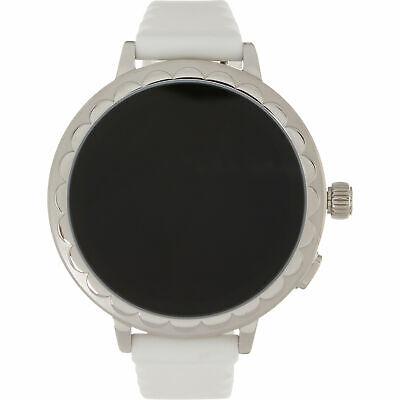 KATE SPADE Women's White Silicon Scallop 2 Smartwatch, Boxed KST2011