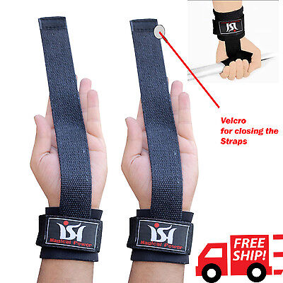 Gym Weight Lifting Straps Power Training Grip Gloves Wrist support wrap Hand bar