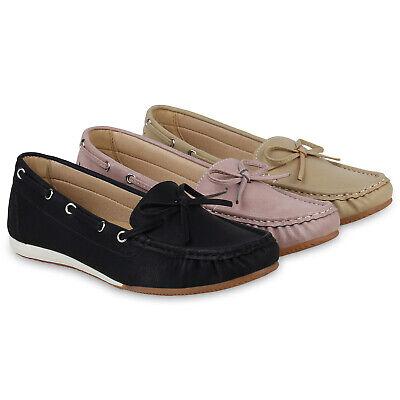 Damen Slipper Mokassins Bequeme Freizeitschuhe Schleife Slip Ons 830932 Schuhe (Slipper Damen Mokassins)