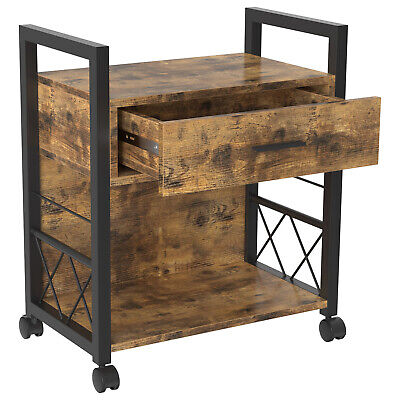 Ironck Filing Cabinet Industrial Printer Stand With Storage Home Office Cabinet