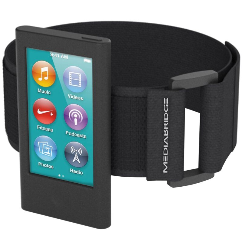 Black Sport Armband for iPod Nano 7th Generation Secure Device Exercise Jogging