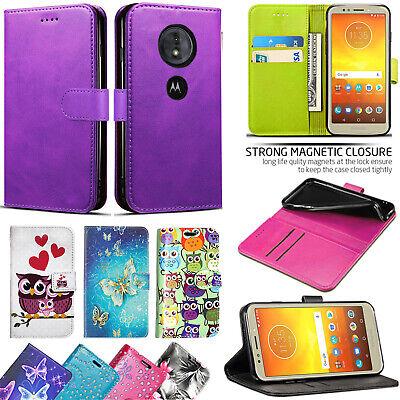 Motorola Moto E5 / E5 Plus / Moto G6 Play - Leather Wallet Flip Book Case Cover