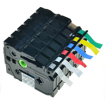 6pk Tz Tze 121 221 421 521 621 721 Tape For Brother P Touch Label Maker Ribbon