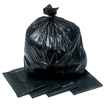 200HEAVY DUTY UK MADE BIN BAGS  LINERS RUBBISH REFUSE SACKS BLACK STRONG BAGS