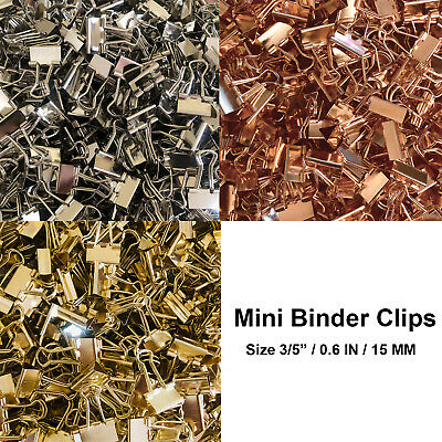 Mini Binder Clips Mix Colored 35 Paper Clamp 0.6 In Size 40-120 Per A Bag