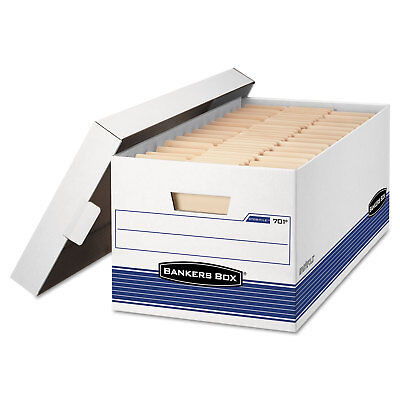 Bankers Box Storfile Storage Box Legal Locking Lid Whiteblue 12carton 00702