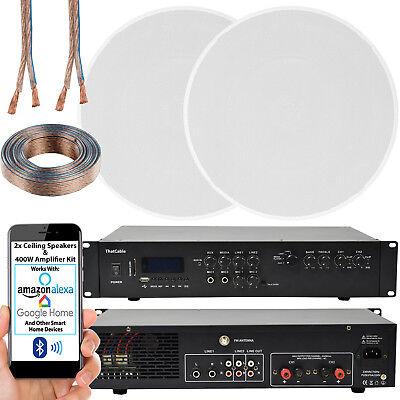 400W Bluetooth Sistema de Sonido – 5.1x16.5cm Delgado Altavoz Techo – Canal...