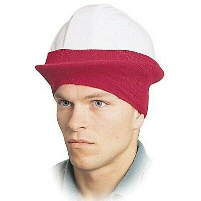 [12 PACK] Universal Fit Hard Hat Sock Winter Liner, Red, Stretch Nylon