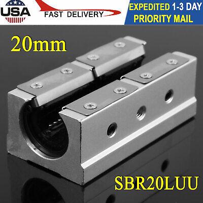 Sbr20luu 20mm Open Linear Bearing Slide Linear Motion Block Cnc