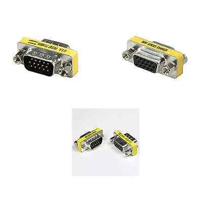 Lot 1 - 10 SVGA VGA 15 Pin gender changer DB15 adapter Male Female Coupler USA-S (Db15-adapter)