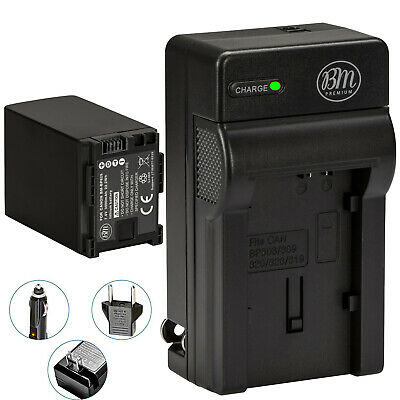BM BP-828 Battery & Charger for Canon HFM301, HFM40, HFM41, HFM400, HFS30, XA10