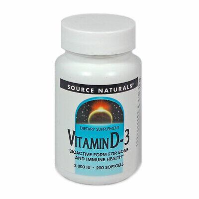 Source Naturals Vitamin D-3 2000IU, Bioactive Form for Bone