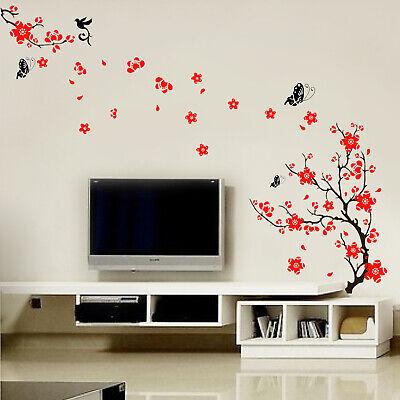 Walplus Red Blossom Flower Art Wall Sticker Art Decoration Decal Room Home