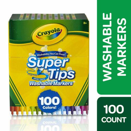 Crayola Super Tips Washable Markers - 100 Count ( Brand New )