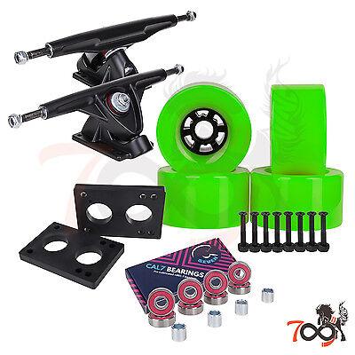 Cal 7 Longboard Flywheel 180mm Truck Bearing 90mm Green Skateboard Wheels