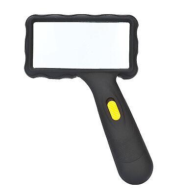 Lupe LED - Hand-/Leselupe mit Licht - 2x fache Vergrösserung - 100x50mm Linse