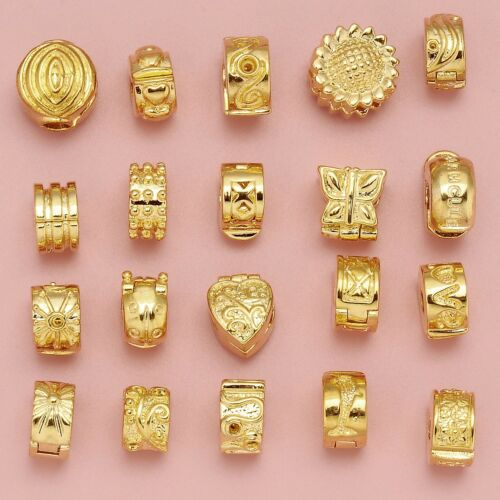 gold clips stopper clasp beads for european