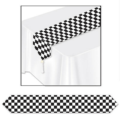 Black Checkered Paper Table Runner Car Racing Birthday Party (Pack of 12) (Checkered Paper)
