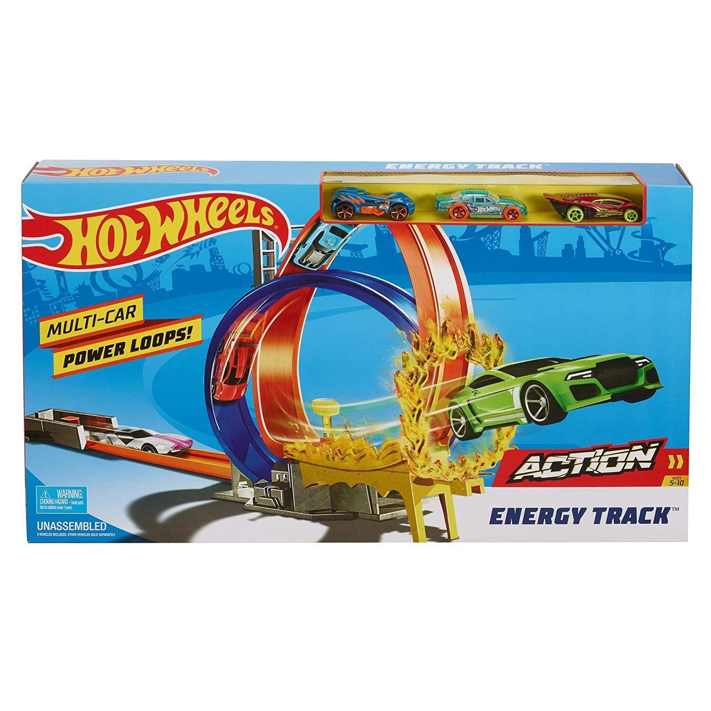 Hot Wheels FKV69 Mattel Energy Track.. Die, Blue