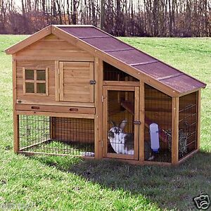 New two story small animal hutch cage enclosure bunny for 2 story guinea pig cages for sale