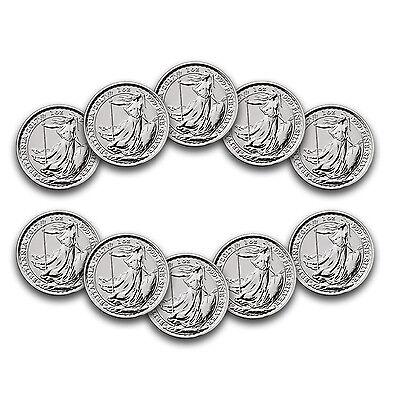 Special Price  2017 Great Britain 1 Oz Silver Britannia 20Th Anniv    Lot Of 10