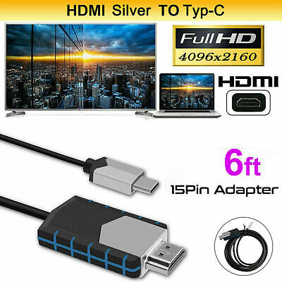 USB Type C to HDMI Adapter USB 3.1 TV Cable For MHL Android Phone Samsung Tablet