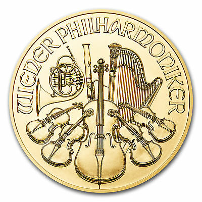 1 oz Austria Philharmonic Gold Random Year 1 oz .9999 fine Gold (Fine Gold Coin)