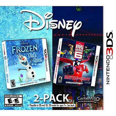 Disney 2 Pack: Frozen and Big Hero 6 3DS [Factory Refurbished]](Games Frozen)