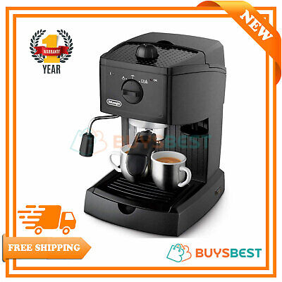 Delonghi Traditional Pump Espresso Coffee Machine - Black EC146.B  ()