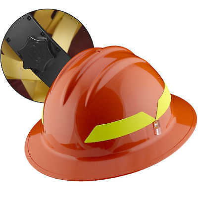 Orange Hat Bullard Wildland Fire Helmet With Ratchet Suspension