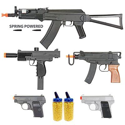 Airsoft Gun Package Includes 5 Airsoft Guns and 4000 BB Pellets for Starter Pack Airsoft Gun Starter Package