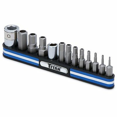Titan 16136 Tamper Resistant Metric Hex Bit Socket Set - Pack of 13
