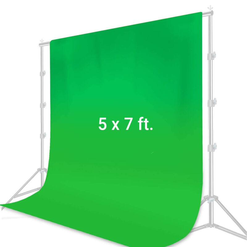 [1 x] 5 x 7 ft. Green Photo Backdrop Collapsible Background Chroma-Key