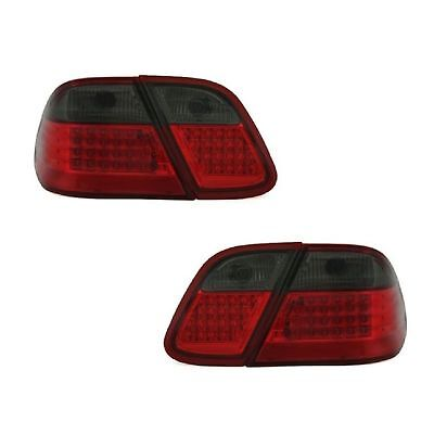 2 Rückleuchten LED Mercedes CLK A208 W208 3/1997 A 4/2002 Schwarz Rot Kristall