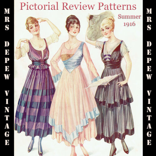 Vintage Pattern Catalog Pictorial Review Fashion Book Quarterly Summer 1916