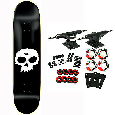 ZERO Skateboard Complete SINGLE SKULL 7.75""