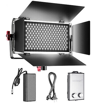 Neewer Studio Dimmable Bi-color SMD LED Video Light with U Bracket and Barndoor
