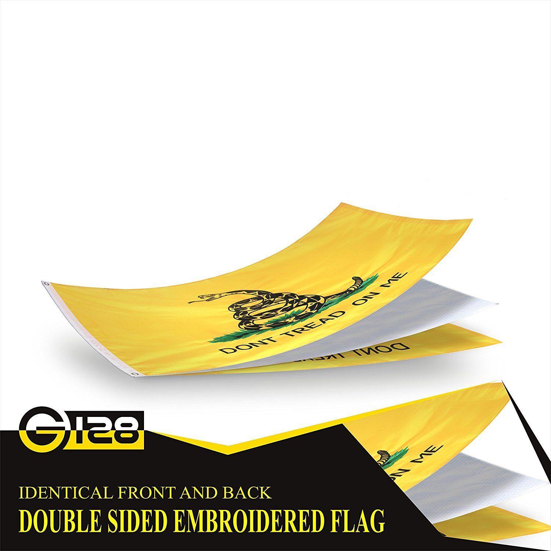 G128 - Gadsden Flag Dont Tread on Me Flag Tea Party Double S