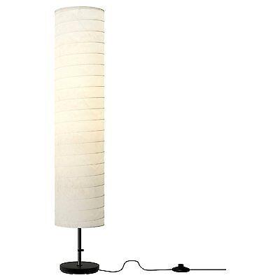 """46"""" Floor Lamp Brass Vintage Light Pole Modern Shade Office Work Desk White"""