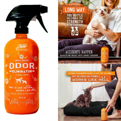 ANGRY ORANGE 24 oz Ready-to-Use Citrus Pet Odor Eliminator Pet Spray - Urine