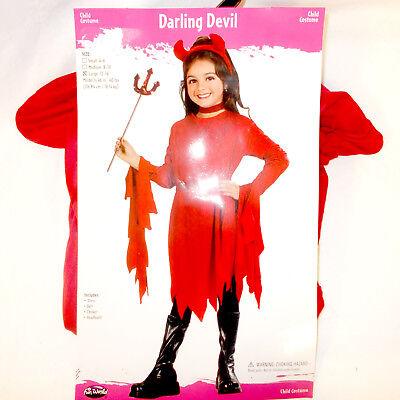 Devil Costume Child (Fun World Red Darling Devil Costume Dress Child S M L)