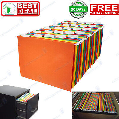 Colored Hanging File Folder - AmazonBasics Hanging File Folders - Letter Size (25 Pack) - Assorted Colors