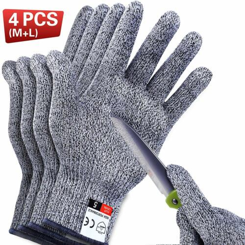 2 Pair Safety Cut Proof Gloves Stab Resistant Stainless Steel Wire Mesh Butcher Business & Industrial