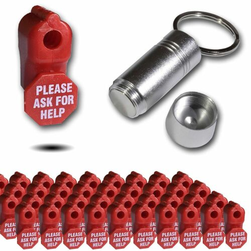 RETAIL SECURITY STOP LOCK Ask For Help ANTI SWEEP DISPLAY HOOK ANTI-THEFT 6mm