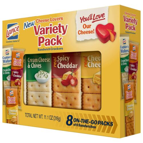 Lance Cheese Lovers Variety Pack Sandwich Crackers 1-Pack