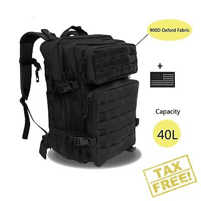 Large Military Tactical Backpack Army 3 Day Assault Pack Molle Gear Bug Out Bag