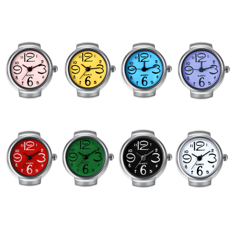Ring Watch Analog Quartz Watch Dial Elastic Band Creative Finger Watch Men Women