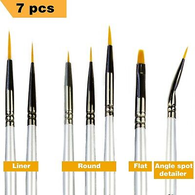 Miniature Paint Brushes - Best Detail Paint Brush Set - 7 pcs Model Paint