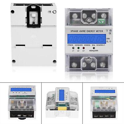 Unterstromzähler 63 A digital 3-Phasen Drehstromzähler Hutschiene